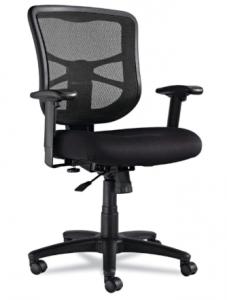Alera Elusion Series Mesh Mid-Back Swivel-Tilt Chair, Black