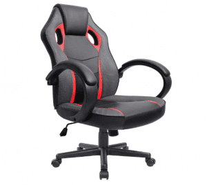 Furmax Executive Racing Office Chair PU Leather Swivel Computer Desk Seat PU Leather and Mesh Bucket Seat,Computer Lumbar Support Chair