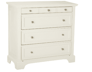 Home Styles 5530-41 Naples Four Drawer Chest, White Finish
