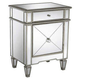"Mackenzie 21 1 by 2"" Wide Mirror Accent Table"
