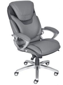 Serta Air Health and Wellness Executive Office Chair, Light Grey