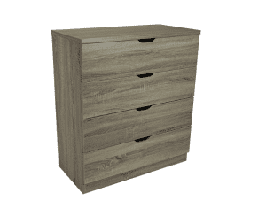 Smart home Eltra K Series 4 Drawers Chest Dresser (4 Drawers, Dark Taupe)