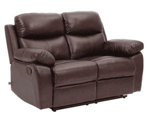 Top Grain Leather Sofa Recliner Loveseats Comfortable Home Furniture in Brown