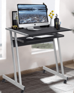 Aingoo Rolling Z-Shaped Desk - Best Small Computer Desk