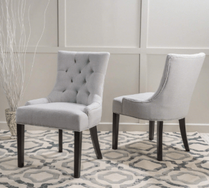 Christopher Knight Home Hayden Fabric Dining Chairs, Set of 2- Best Fabric Dining Chairs