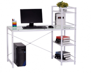 "HOMCOM 50"" Multi-Shelf  Computer Desk - Best Multi Shelf Computer Desk"