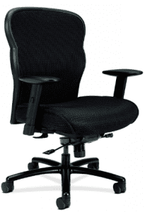HON Wave Big and Tall Chair - Mesh Office Chair with Adjustable Arms, Black (VL705)