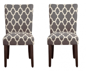 HomePop Classic Accent Dining Chair, Set of 2 -Best Casual Upholstered