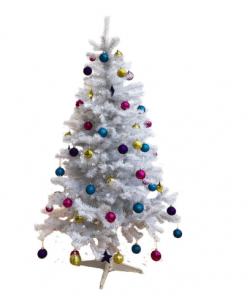 Homegear 6FT Deluxe 700 Tip Artificial White Christmas Tree