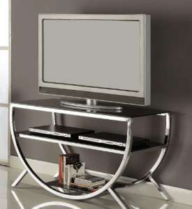 Kings Brand Furniture Metal Top & Shelves TV Stand