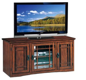 Leick Riley Holliday Tall TV Stand, 50 Inch - Best Solid Wood TV Stand