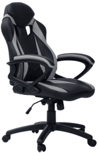 Merax Ergonomic Racing Style PU Leather Gaming Chair for Home and Office (Grey)