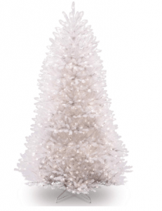 National Tree 7.5 Foot Dunhill White Christmas Tree
