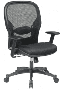 SPACE Seating Breathable Mesh Black Managers Chair