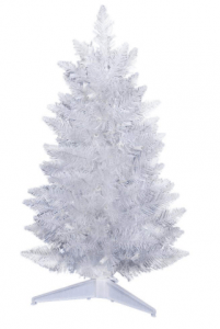 Vickerman Unlit Sparkle Spruce Pencil White Artificial Christmas Tree