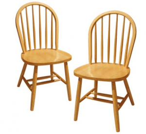 Winsome Wood Windsor Chair, Set of 2 - Best Casual Wooden