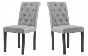 YEEFY Fabric Habit Solid Wood Dining Chair (Set of 2)