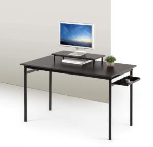 Zinus Port Computer Desk, Espresso, Small