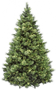 7.5 Foot Carolina Pine Christmas Tree Artificial - Best for Heavy Ornaments