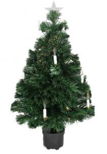 DAK 3-ft Pre-LitMulti LightsFiber Optic Artificial Christmas Tree