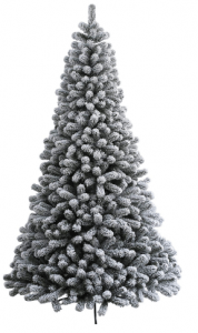 KING OF CHRISTMAS 4.7 Foot Prince Flock Artificial Christmas Tree