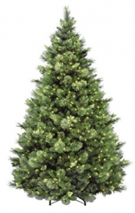 National Tree 7.5 Foot Carolina Pine Flocked Tree