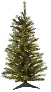 Nearly Natural 3-Feet Christmas Tree - Best for small spaces