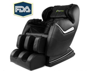 Real Relax Shiatsu Electric Massage Chair with Heat and Foot Rollers