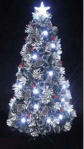Snowy White Pine Pre-lit Fiber optic Christmas tree