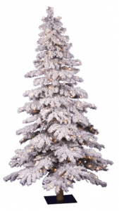 Vickerman 6' Flocked Spruce Artificial Christmas Tree