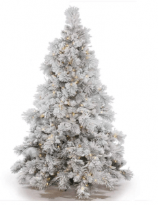 Vickerman Flocked Alberta Artificial Christmas Tree