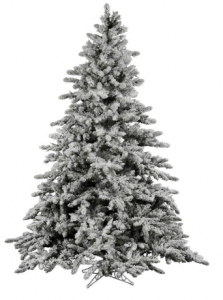 Vickerman Flocked Christmas Tree Utica