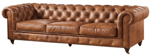 Crafters and Weavers Vintage Leather Chesterfield Sofa